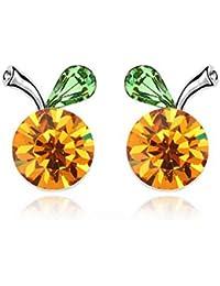 8b292efbcf1b4 Good dress Bijoux Haut de Gamme Boucles d oreilles Cristal de Diamant Oden  Méduse Boucles