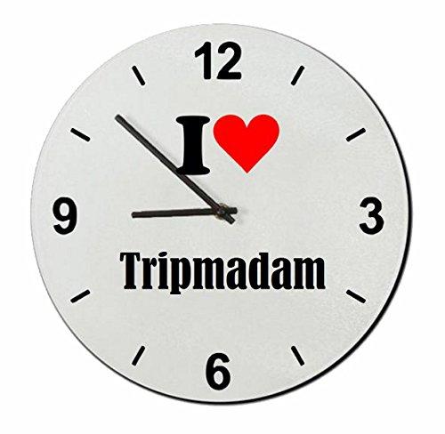 """Exklusive Geschenkidee: Glasuhr """"I Love Tripmadam"""" eine tolle Geschenkidee die von Herzen kommt- Uhr- Weihnachts Geschenktipp"""