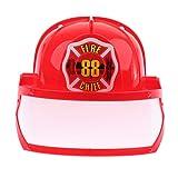 Fenteer Feuerwehrmann Feuerwehrhelm Feuerwehr Helm Partyhütchen Kinder Party Hüte Papierhüte Partydeko - rot2