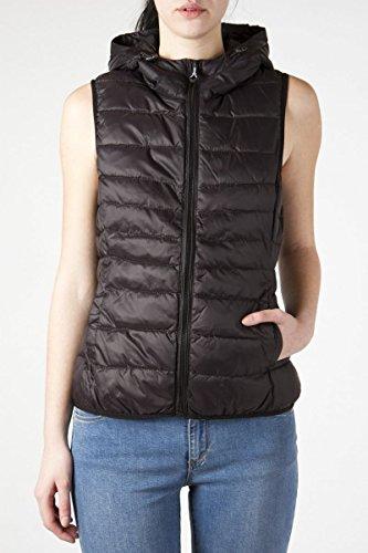 Only Damen Steppweste Leichte Weste Übergangsjacke (XL, Black) (Weste Xl Damen)