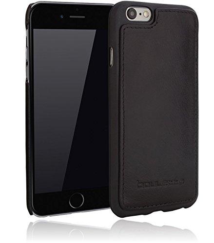 Bouletta - Flex Cover - Apple iPhone 6 / 6S Hülle | Leder+TPU Schutz-Hülle | Handyhülle | Ledertasche | Handytasche | Schutzhülle | Cover | Case | Hülle | bruchfeste Schale (Cognac) Schwarz