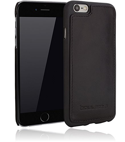 Bouletta - Flex Cover - Apple iPhone 6 Plus / 6S Plus Hülle | Leder+TPU Schutz-Hülle | Handyhülle | Ledertasche | Handytasche | Schutzhülle | Cover | Case | Hülle | bruchfeste Schale (Dunkel Braun) Schwarz