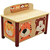 Preisvergleich für LibertyHouseToys Jungle Spielzeug-Box, Holz, Mehrfarbig
