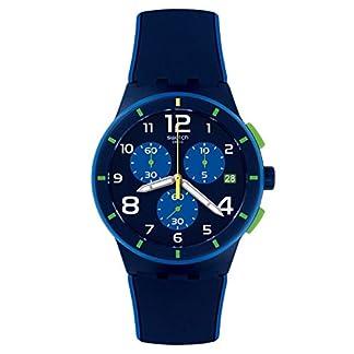 Swatch Hombre Chrono plástico susn409Reloj de cuarzo silicona), color azul