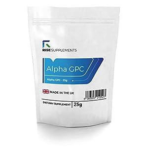 Alpha GPC 99 % Pulver – 25 g | Für Gedächtnis & Konzentration | Vorrat für bis zu 4 Monate | Verpackt in ISO-zertifizierten Betrieben in Großbritannien | Geld-zurück-Garantie