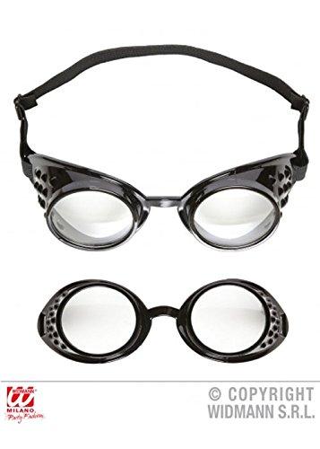Erwachsene schwarz Minion Style Schutzbrille (Minion Kostüme Erwachsene)