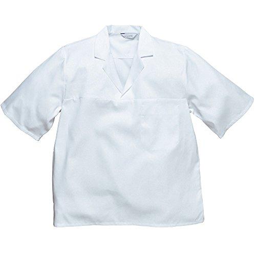 Baker Shirt Short Sleeve interne Brusttasche Catering Backen Chef XS-3X L Gr. Large, Weiß -