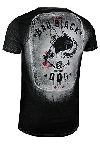 trueprodigy Casual Herren Marken T-Shirt mit Aufdruck, Oberteil cool und stylisch mit Rundhals (kurzarm & Slim Fit), Shirt für Männer bedruckt Farbe: Schwarz 1073157-2999 Black
