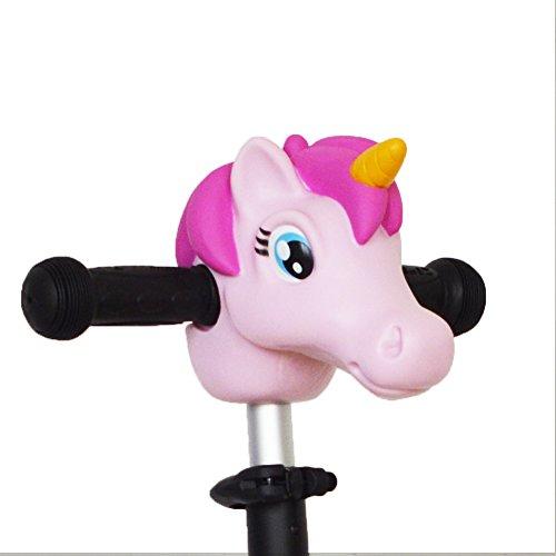Scooter Zubehör Kopf Kinder Unicorn Pony Pferd Dinosaurier Spielzeug Geschenke Geschenke Mini T-Bar Kick Scooter Bike Pogo Jumper Zubehör für Kinder Jungen Mädchen (Roller Mini Kick)