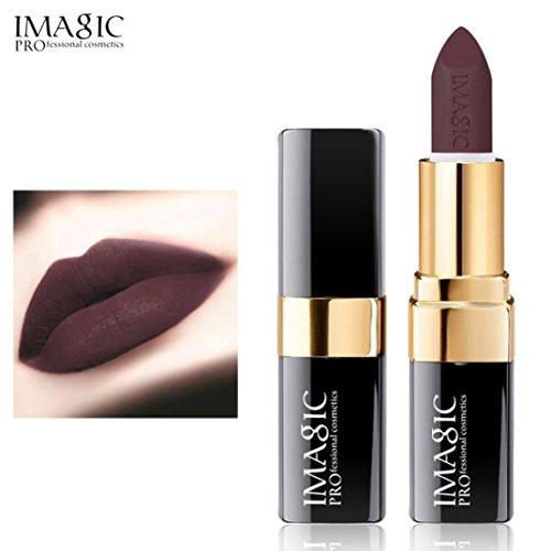 Rouge à Lèvres, Tefamore Liquide de Rouge à Lèvres Liquide hydratant en Velours Métal Rouge à Lèvres cosmétique Maquillage (12#)