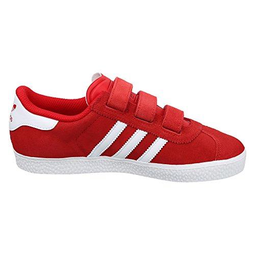 adidas Gazelle 2 Cf, Basses Mixte Enfant Rouge