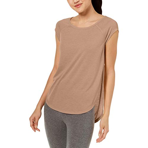 Calvin Klein Performance Cap-Sleeve Open-Side Top Women's (XL, Pra)