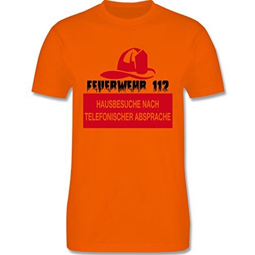 Feuerwehr - Feuerwehr 112 - Hausbesuche nach telefonischer Absprache - Herren Premium T-Shirt Orange