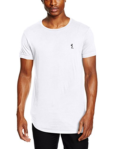 Religion Herren Plain Ss Crew Neck Tee with Curve Hem T-Shirt, Weiß (White 013), X-Large