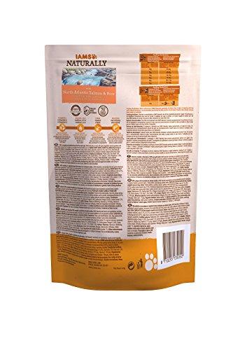 Iams natürliches Katzenfutter mit Nordantlantik-Lachs und Reis, komplettes und ausgewogenes Katzenfutter mit natürlichen Inhaltsstoffen, 3 x 2,7 kg