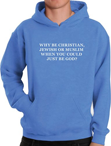Green Turtle T-Shirts Geschenk für Atheisten - Why be Christian Kapuzenpullover Hoodie Medium California blau