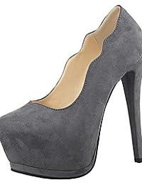 LvYuan-ggx Zapatos de mujer-Plataforma-Tacones-Tacones-Vestido / Fiesta y Noche-Sint¨¦tico-Negro / Rosa / Rojo / Gris , black-us5 / eu35 / uk3 / cn34 , black-us5 / eu35 / uk3 / cn34