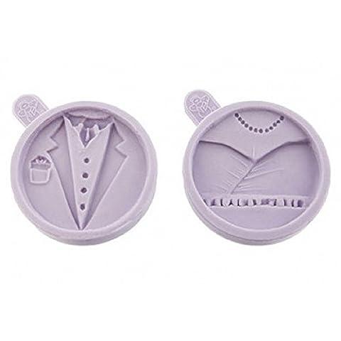 Karen Davies Bride & Groom Silicone Cupcake Top Icing Mould Set