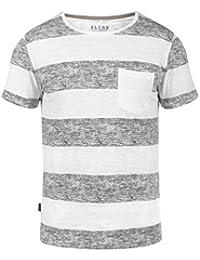 BLEND Vegas Herren T-Shirt Rundhals Streifen-Shirt mit Brusttasche