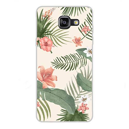 Todo Phone Store Custodia Cover [Disegno] Silicone TPU Gel [Fiori 013] per [Samsung A5 (2016) A510F]