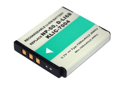 PowerSmart® 3,60V 750mAh Li-Ion passt zu den Akkutyp D-LI122, D-LI68, Ersatz für Pentax Optio A36, Optio S10, Optio S12, Optio VS20, Q, Q10 Digitalkamera Akku