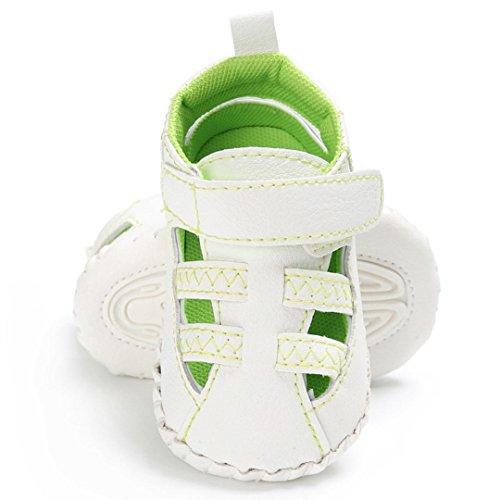 Rawdah Cute Crib Shoes Anti-Slip Prewalker Chaussures à Semelles Douces Sandales Vert