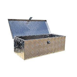 US PRO TOOLS ALUMINIUM CHEQUER JOB SITE BOX SAFE CHEST TOOL BOX VAN TRUCK