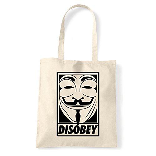 Art T-shirt, Borsa Shoulder Disobey, Shopper, Mare Natural