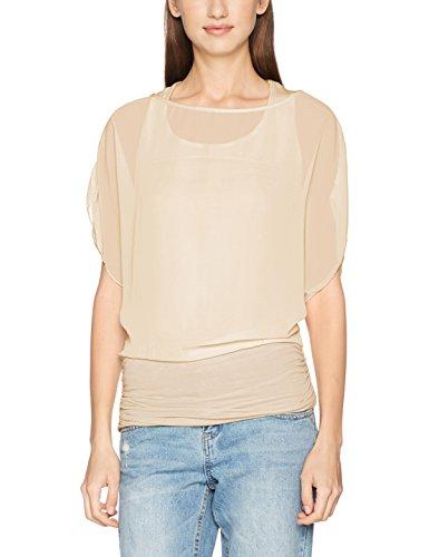 Krisp Damen Bluse 3559 Beige (Sandstein 3559 28), 40 (Herstellergröße: 12)