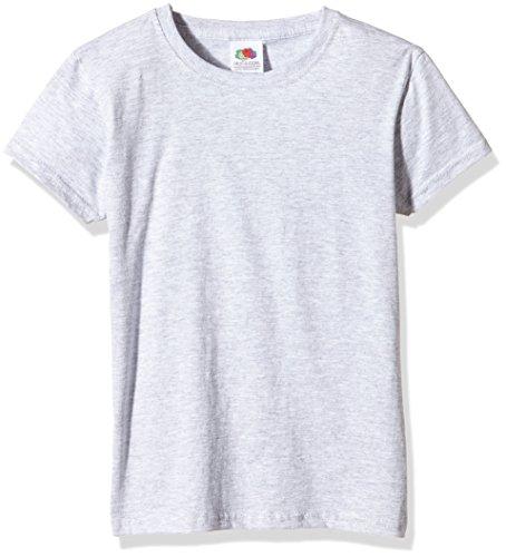 Fruit of the Loom SS079B, Camiseta para Niños, Gris (Heather Grey), 7/8 Años (Talla Fabricante: 30)