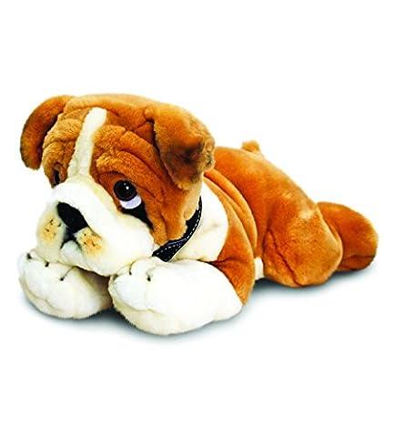Keel Toys - 64699 - Jouet de Premier Age - Peluche - Chien - Bulldog - 35 cm