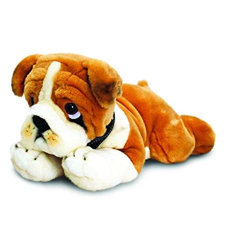 Keel Toys 64699 - Gioco prima infanzia, cane bulldog di peluche, 35 cm