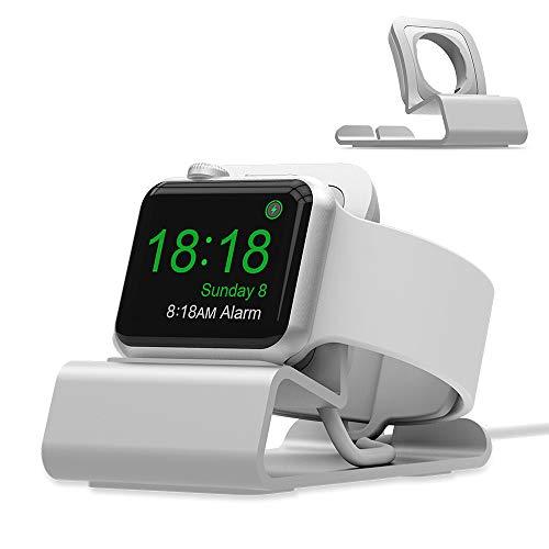 iitrust Aluminium Uhr Ständer für Apple Watch Series 1/2/3/4, Enthält KEIN Kabel (Silber) -