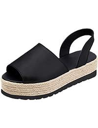 LILICAT✈✈ Women's Ladies Summer Flat Playform Woven Thick-Bottom Sandals Roman Shoes, 2019 Damas de Mujer Primavera Verano Zapatillas de tacón Planas Sandalias de Playa Zapatos Romanos