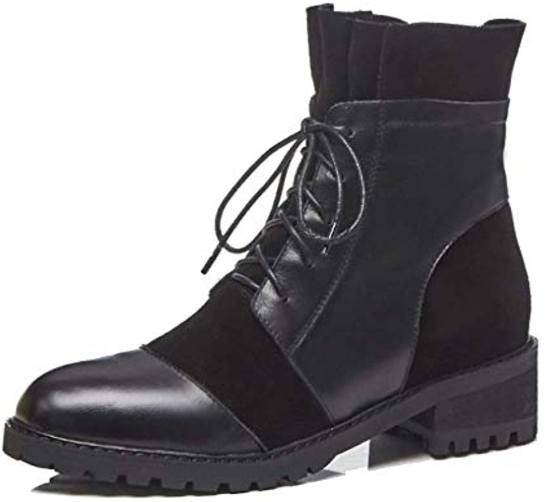 YCGCM Stivali Martin da Donna Autunno E Inverno Comodi Stivali di Pizzo Resistenti all'Usura | Portare-resistendo  | Sig/Sig Ra Scarpa