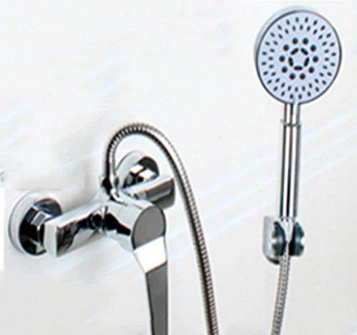 FuweiEncore Duschset Einfache Dusche mit warmem und kaltem Wasser Mischbatterie Unterputz-Duschlift Wandmontage-Duschset