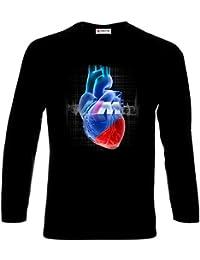 BMW in Heart Sport Cars Auto Logo Camisetas de Manga Larga Hombre Printed  T-Shirt bee9bd3b2b5