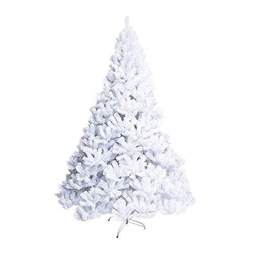 Froadp 240cm albero di natale artificiale pvc bianca pvc (bianca pvc, 240cm)