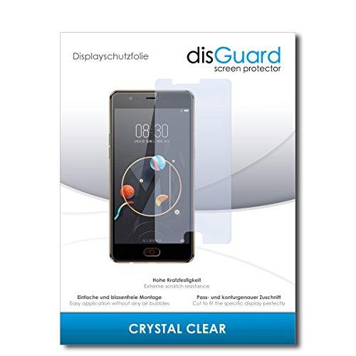 disGuard® Displayschutzfolie [Crystal Clear] kompatibel mit ZTE Nubia M2 Lite [2 Stück] Kristallklar, Transparent, Unsichtbar, Extrem Kratzfest, Anti-Fingerabdruck - Panzerglas Folie, Schutzfolie