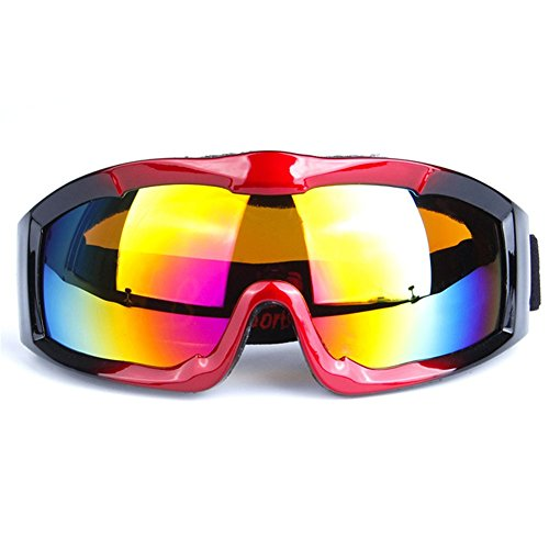 Z-P Unisex Adult Outdoor Sports Style Motorcycle Windproof Dustproof Ski Snowboard Hiking Equipment Spherical Lens Anti-reflection Shield Goggles UV400