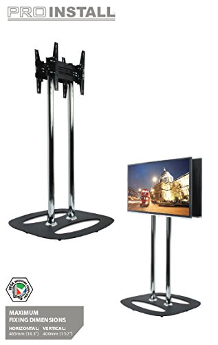 B-Tech Back-to-Back Flat Screen Floor Stand - 2.0m, BT8552-200_BB (Floor Stand - 2.0m Black/Black 50 max Weight 2 * 35 Kg) Bb Stand