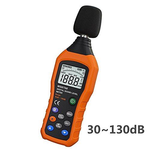 Sonómetro,VLike PT02 LCD Medidor Digital de nivel de ruido Decibel   Sonido Audio Monitor medidor db medición de 30 dB a 130 dB registrador probador