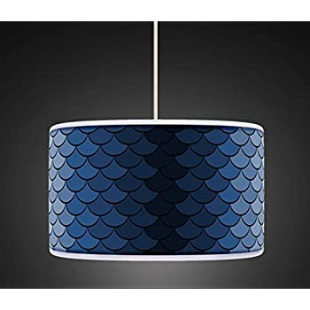 11 galaxy blue black glitter ceiling table lampshade amazon 40cm16 blue retro geometric handmade giclee style printed fabric lamp drum lampshade floor or ceiling pendant light shade 456 aloadofball Image collections