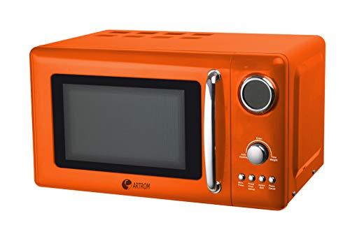 Microondas digital vintage naranja