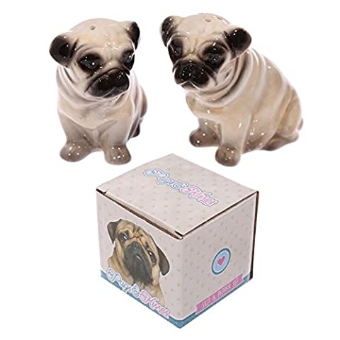 Adorable Set Of Pugs Salt And Pepper Set - One Size, Pug