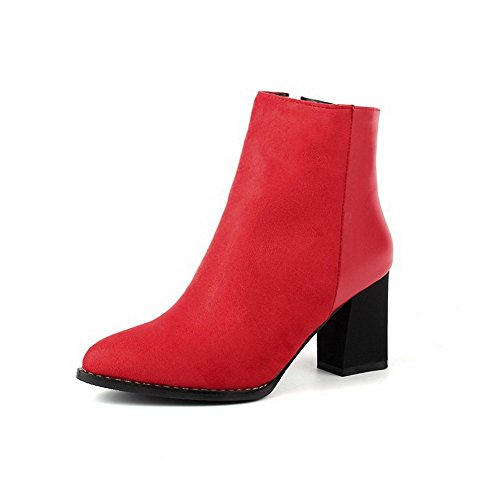agoolar-womens-high-heels-soft-material-low-top-solid-zipper-boots-red-36