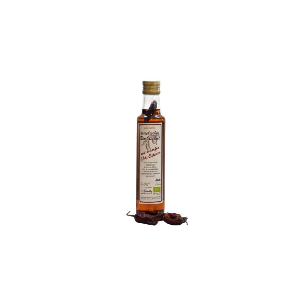 Directfriendly Bio Olivenl Griechenland Mit Bio Chili Mittelscharf 025 Liter Flasche