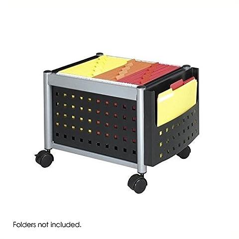 Safco Scoot Mobile File Cart Mini (Foolscap), Black (Bl) 5371Bl
