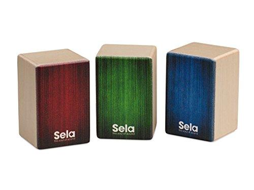 Sela SE 108 Mini Cajon Shaker Set, geeignet für rhythmische Begleitung, Hand Percussion, 3 Varianten: Soft, Medium, Hard