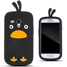 Zooky AG348 - Carcasa de silicona para Samsung Galaxy S III Mini, diseño de pollo, color negro